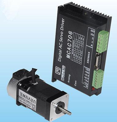 64W 3000rpm 0.2N.m NEMA17 Brushless DC servo motor driver kit 24VDC 1000 line