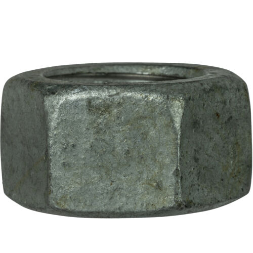 """9//16/""""-12 Finished Hex Nuts Steel Grade 2 Hot Dip Galvanized Finish Qty 10"""
