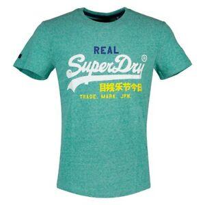 t shirt vert superdry