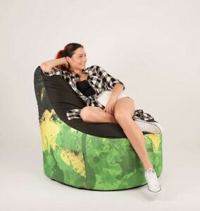 Stupendous Details About Large Rasta Style Bean Bag Indoor Cover Chair Lounger For Adult Kids Washable Pdpeps Interior Chair Design Pdpepsorg