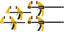 (4-Pack) Dewalt Medium Large Trigger Bar Clamp Clamps Woodworking Wood Hand Tool