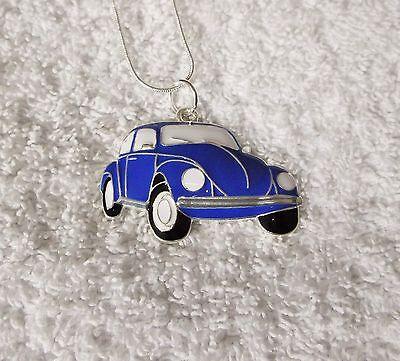 Auto Indesiderate Ispirato Grande Fascino Collana Herbie Maggiolino Blue Beetle Regalo-mostra Il Titolo Originale
