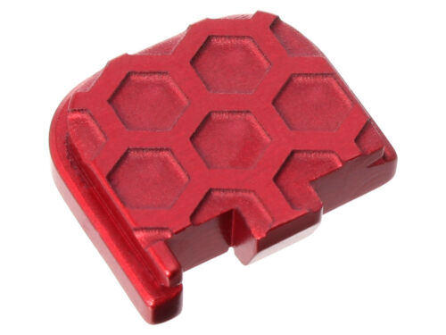 For Glock 43 43X 48 Rear Slide Plate Honey Comb Inverse Deep Engraved Red