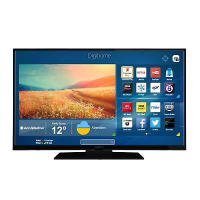 Digihome 49UHDHDR Black - 49inch 4K Ultra HD HDR LED Smart TV WiFi Freeview Play