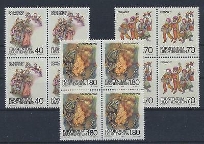 SchnäPpchenverkauf Zum Jahresende Liechtenstein 818/20 Postfrisch Viererblöcke ................................
