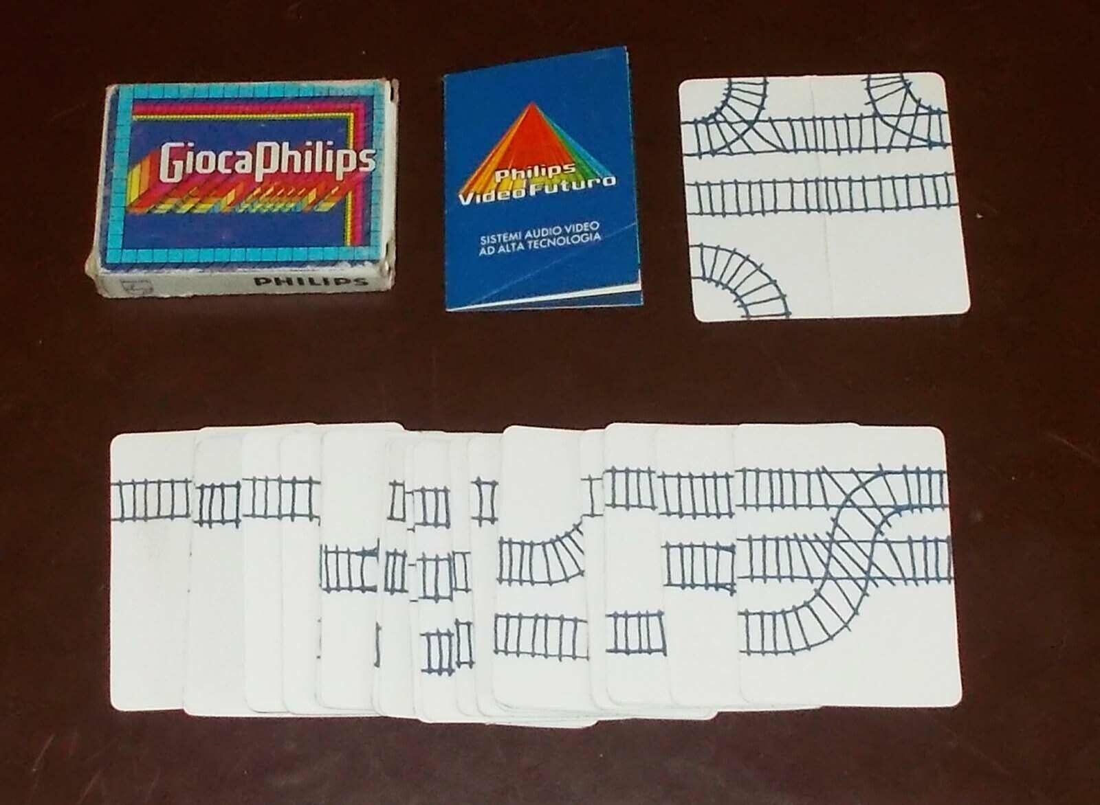 GIOCA PHILIPS IL NODO FERROVIARIO - 32 carte OTTIMO PROMO cards