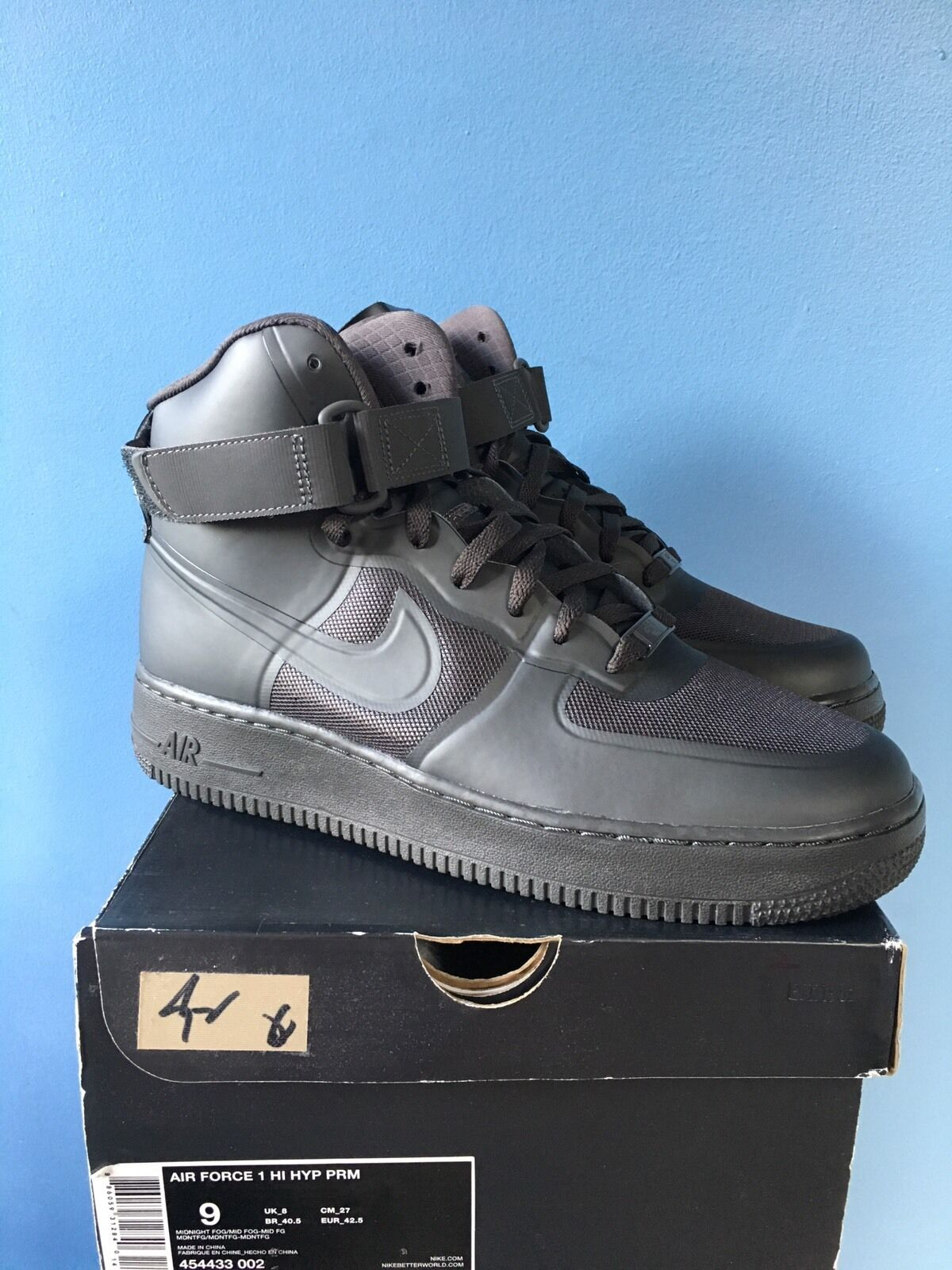 Nike Air Force 1 One High Hyperfuse All Black 3M Comfortable Brand discount