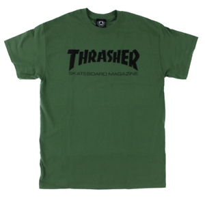 975abd42d187 Image is loading THRASHER-Magazine-Skate-Mag-Logo-Army-Green-Black-