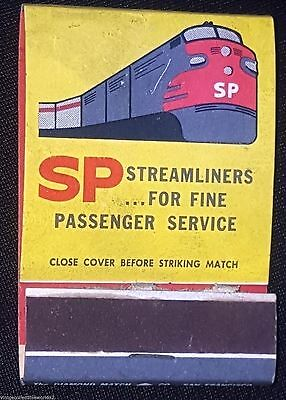 Vintage Front Strike Matchbook Railroad Southern Pacific Streamline