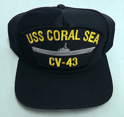 USA UNITED STATES USS CORAL SEA CV-43 SHIPS CAP HAT