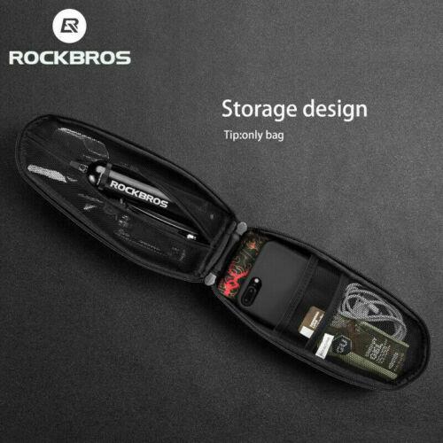 ROCKBROS Waterproof Bike Bag Cycling Tube Frame Bag Hars Shell Bag Black 2 Sizes