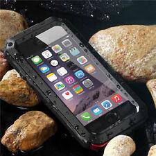 De lujo a prueba de choques impermeable casos de Metal de Aluminio Gorilla Glass para iPhone 6S