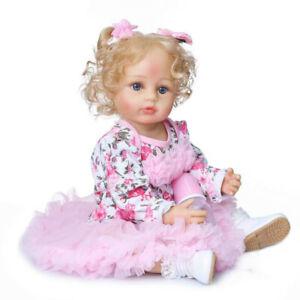 55cm Lifelike Full Body Waterproof Reborn Baby Doll Girls Newborn Toddler Toys