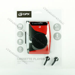 GPX-Cassette-Player-amp-Recorder-w-AM-FM-Radio-Compact-Size-Stereo-Speaker-Walkman