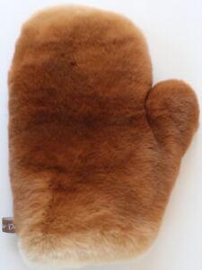 Fur Glove Rex Massage Wellness Fur Streichel Rabbit Erotic Natural Old Orange