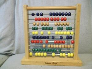 Well-made-Melissa-amp-Doug-abacus-100-colourful-wooden-beads
