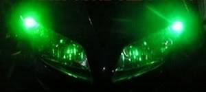Green LED Park Lights - R1 R6 GSXR SV1000 300 ZX6 ZX10 ZX12 ZX14 Z1000 CBR 675