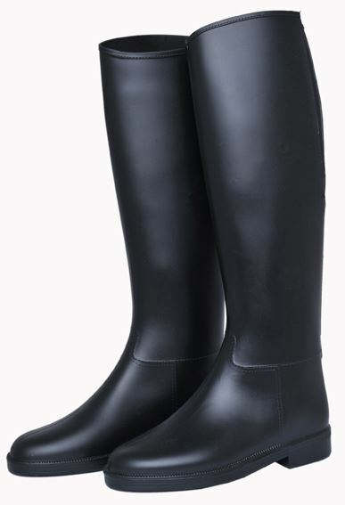 HKM Ladies Junior Basic  Standard Elasticated Waterproof Horse Riding Boots  most preferential