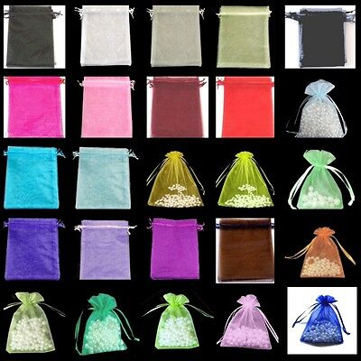 50 Jewellery Pouches Pink Purple Olive 10 100 pcs 5x7cm Organza Gift Bags