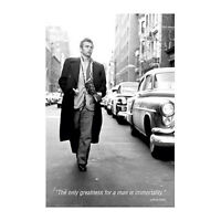 James Dean Quote Poster 24 X 36 The Only Greatness For A Man Is Immortality