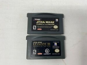 Star-Wars-Episode-III-amp-Flight-of-the-Falcon-Game-Boy-Advance-2-GAME-LOT