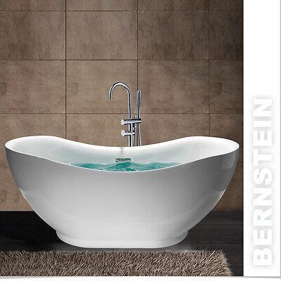 Freistehende Badewanne SEVILLA ACRYL weiß OMS-772 170x79 inkl. Ab/Überlauf