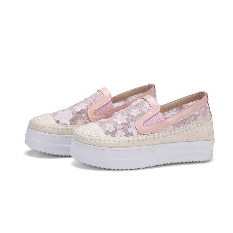 Donna Casual Slip Loafers Creepers On Lace Creepers Loafers Loafers Slip Platform   722c9e