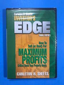 Investor-039-s-Edge-come-vendere-o-affittare-per-il-massimo-profitto-DVD-Carleton-NUOVO