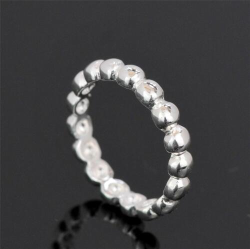 STERLING SILVER BEAD BALL STACKING RING