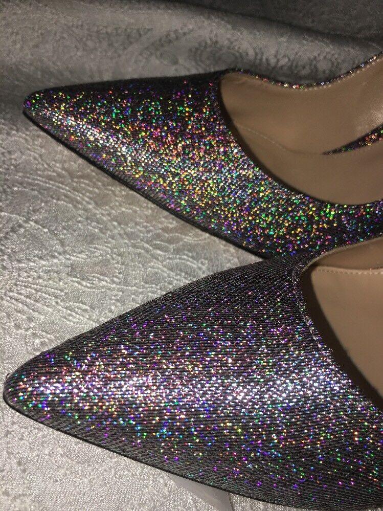 Gianvito Rossi schuhe MultiFarbe Silber 40 Glitter Fabric Größe 40 Silber 1 2 New 62278f