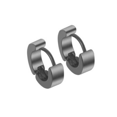 Men/'s Stainless Steel Stud Hoop Earrings Silver Gold Black Cool Punk Style