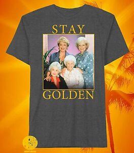 New-Golden-Girls-Stay-Golden-Vintage-Men-039-s-80-039-s-Throwback-T-Shirt