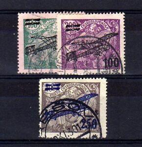 TCHECOSLOVAQUIE-Poste-Aerienne-n-7-9-oblitere