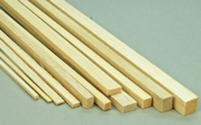 Caritatevole Wws Balsa Wood Strips 6.5 X 13 X 305 Mm (1/4 X 1/2 X 12 Inch) - 45 Pack – Model