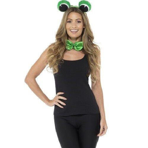 Adult Animal Frog Fancy Dress Set Eyes on Headband /& Bowtie Kit by Smiffys New