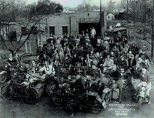 ANTIQUE-VINTAGE-1936-HARLEY-DAVIDSON-OHIO-MOTORCYCLE-CLUB-11-034-X14-034-B-amp-W-PHOTOGRAPH