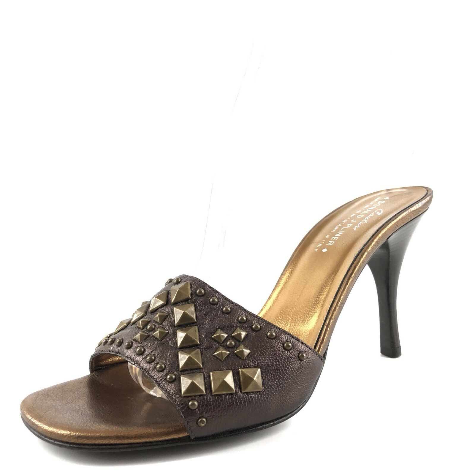 Donald J Pliner Toe Nievo braun Leather Studded Open Toe Pliner Sandals damen Größe 7.5 M  2cd18b