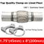 Acier-inoxydable-Joint-tube-flexible-a-pince-d-039-echappement-Tuyau-flexible-pince miniature 5
