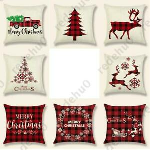 Christmas-Pillow-Case-Santa-Cotton-Linen-Sofa-Car-Throw-Cushion-Cover-Home-Decor