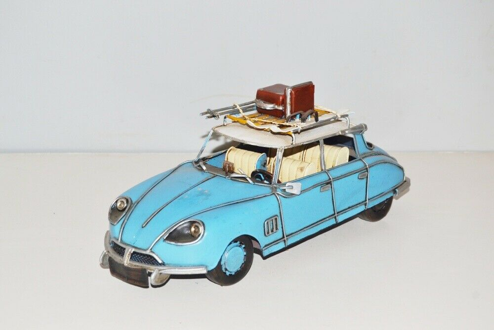 Model Car Citroen Ds Nostalgic Tin Model, Metal 31 cm, New (Ko )