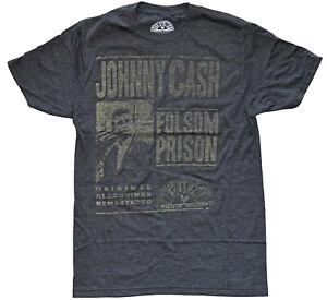 Johnny-Cash-Folsom-Prison-Vintage-Distressed-Design-Men-039-s-T-Shirt-New
