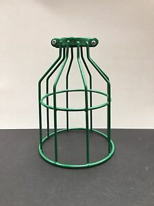 GREEN BULB GUARD CLAMP ON LAMP CAGE VINTAGE INDUSTRIAL STEAMPUNK A.K.A.CLAMPY