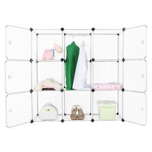 9-Cube-DIY-Garde-Robe-Armoire-Penderie-Etagere-Rangement-Placard-De-Vetement-FR