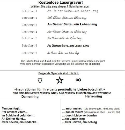 Trauringe Eheringe Edelstahl Paertnerringe mit Rhodolith Ringe Lasergravur Z121