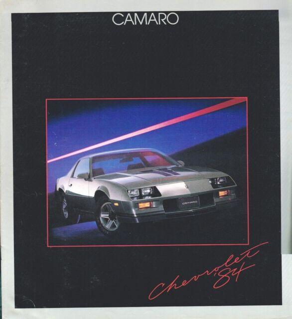 Big 1984 Chevy Camaro Brochure    Catalog With Color Chart