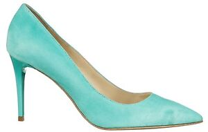 MORI-MADE-IN-ITALY-POINTY-HEELS-PUMPS-SCHUHE-DECOLTE-LEATHER-TURCHESE-BLUE-45