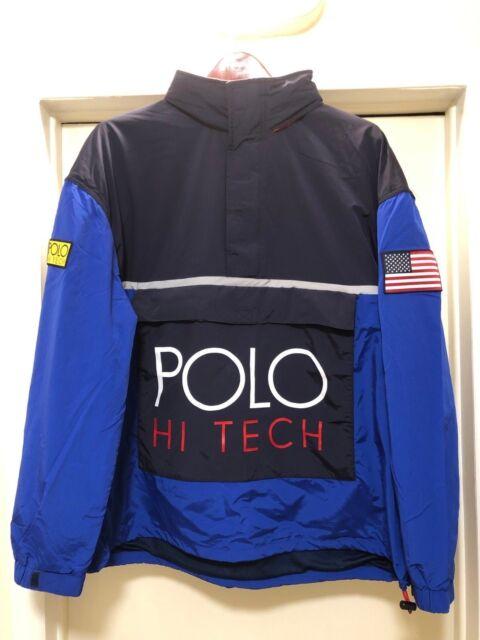 Pocket Pullover Polo Tech Windbreaker Ralph Xxl Jacket Lauren Front Zipper Hi WD2IYEH9