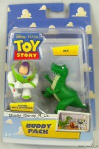 New-Disney-Pixar-Toy-Story-Buzz-Lightyear-and-Rex-Buddy-Pack-Toy-Action-Figures