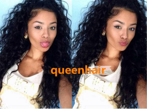 Wholesale natural curly Lace Front /Full lace wigs Human Hair baby hair around