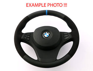 BMW-X3-X5-Serie-E53-E83-Neuf-Cuir-Noir-Volant-Sport